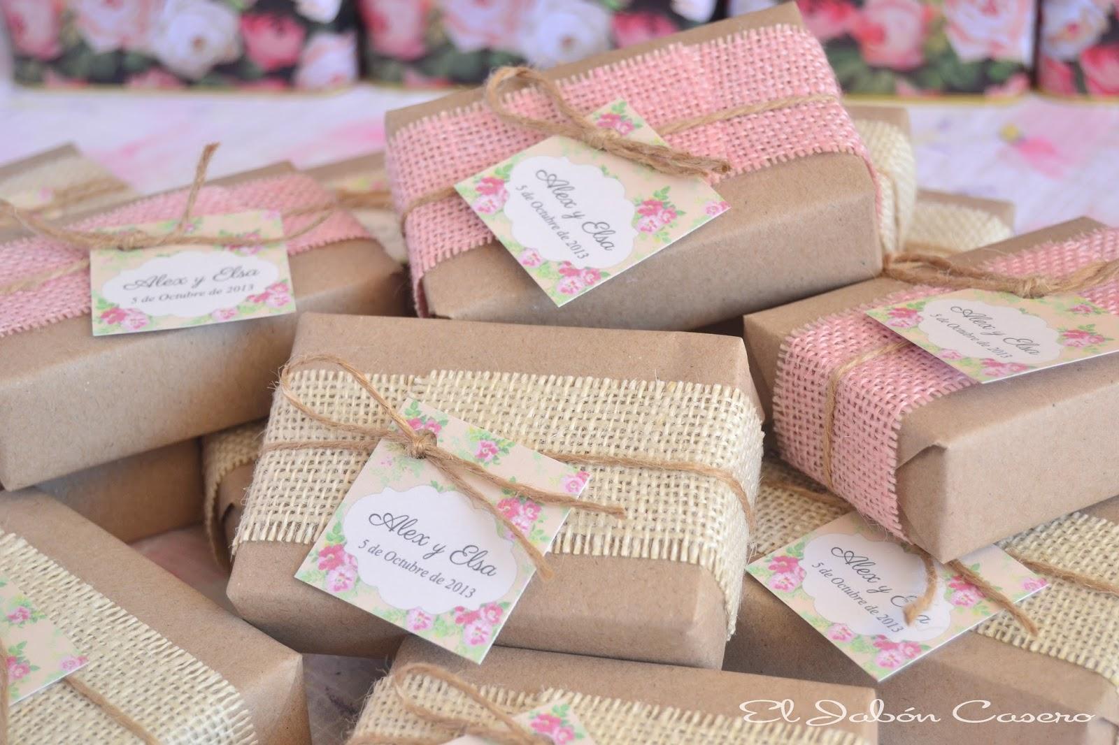 Detalles de boda ecologica jabones