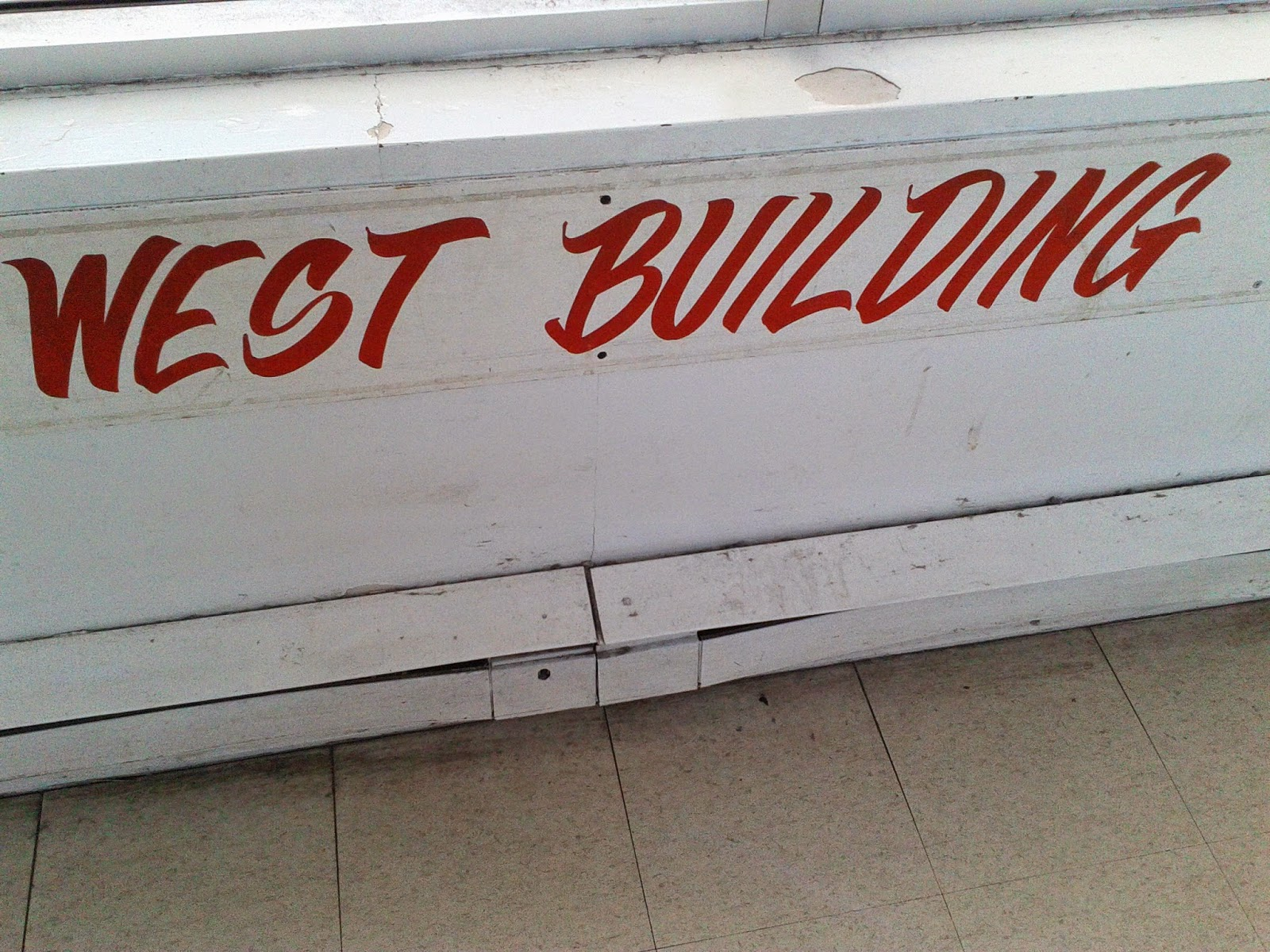 Stock photo: West building sign