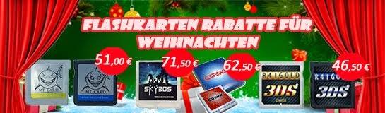 Flashkaren Rabatt für Weihnachten