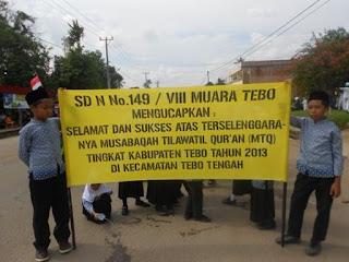 Keikutsertaan SDN 149/VIII Muara Tebo Dalam Menyusekseskan Acara MTQ Tingkat Kabupaten Tebo T.A 2013