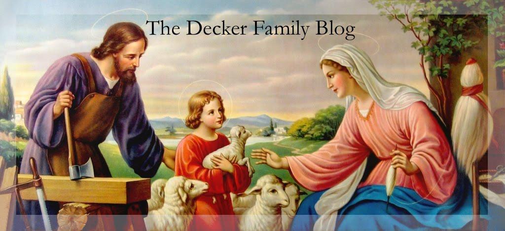 The Decker Family Blog