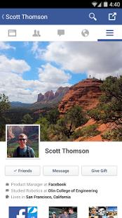تطبيق الفيس بوك Facebook App للاندرويد
