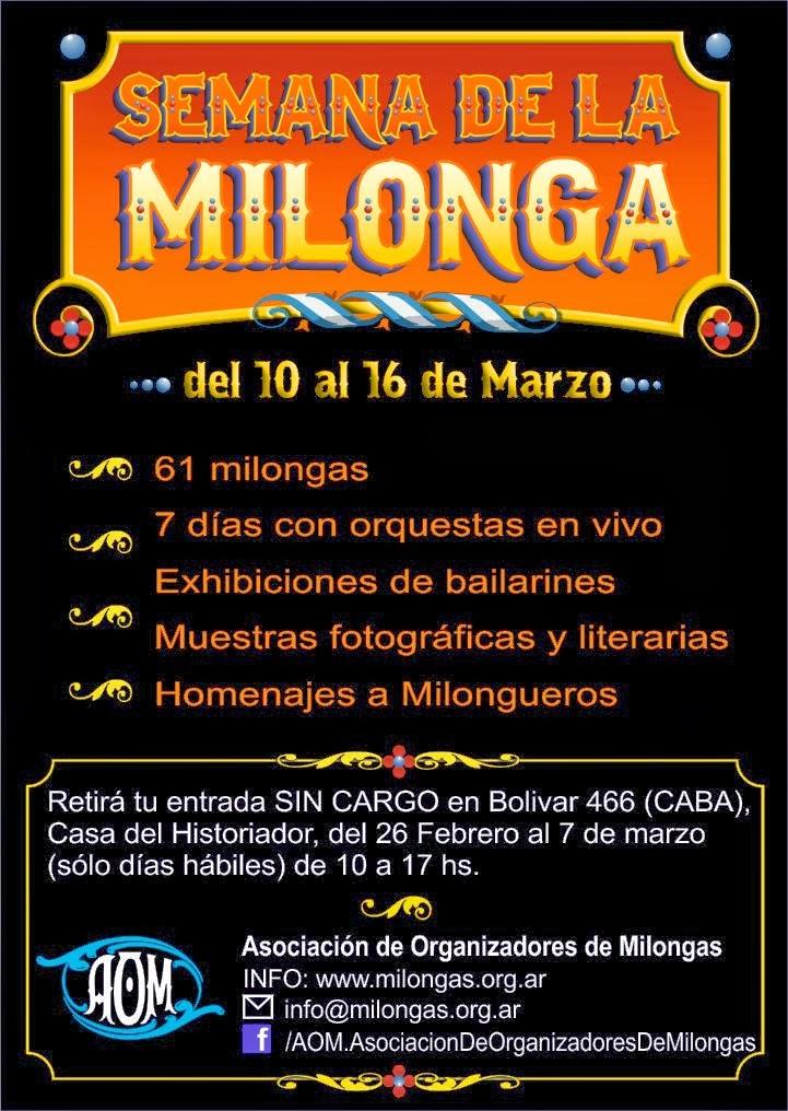 Soho Tango participó en marzo 2014 junto a otras 60 milongas.
