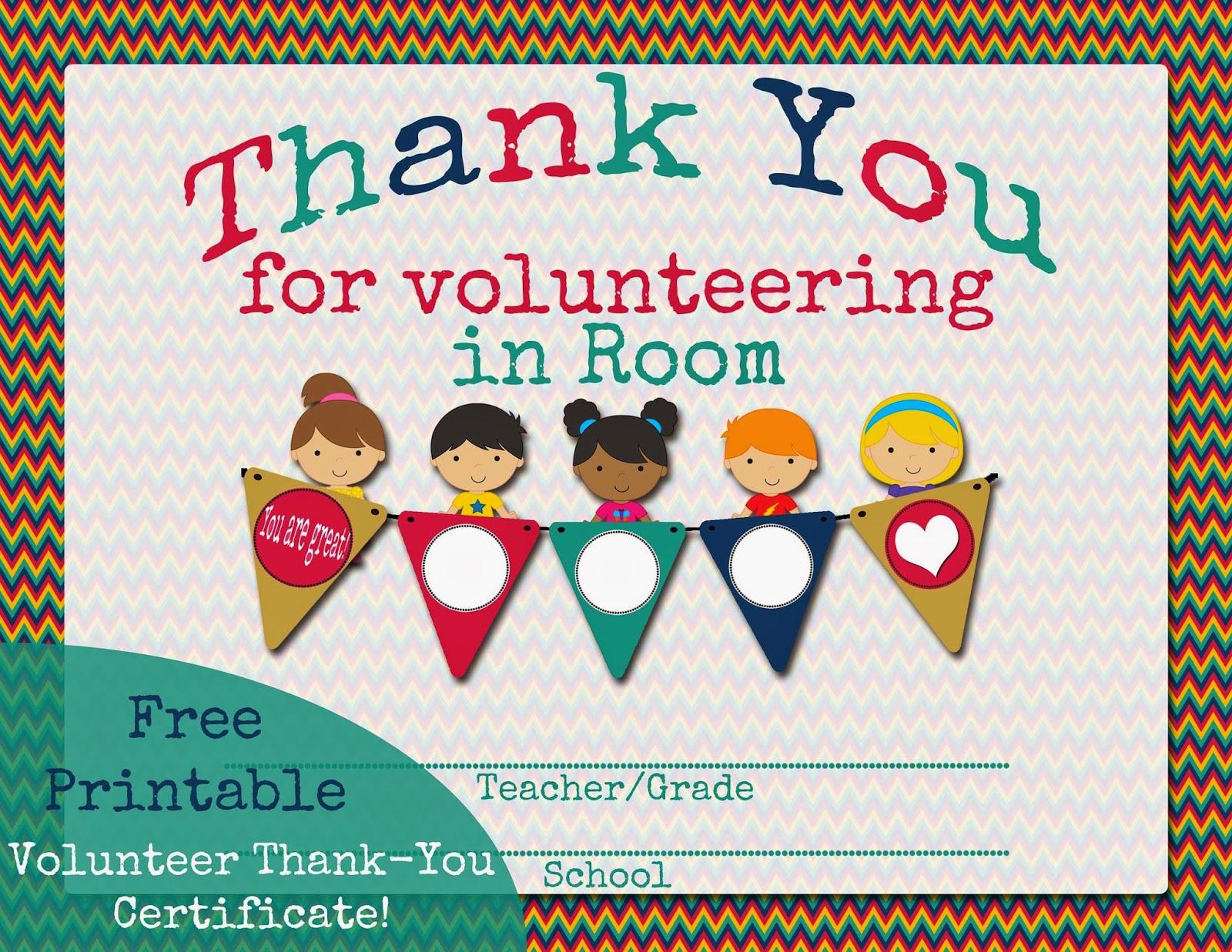 volunteering certificates