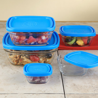 glass storage bowls with lids