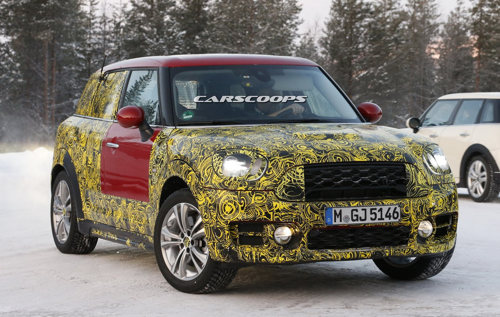new mini countryman getting ready for big reveal will offer plug in hybrid carscoops. Black Bedroom Furniture Sets. Home Design Ideas