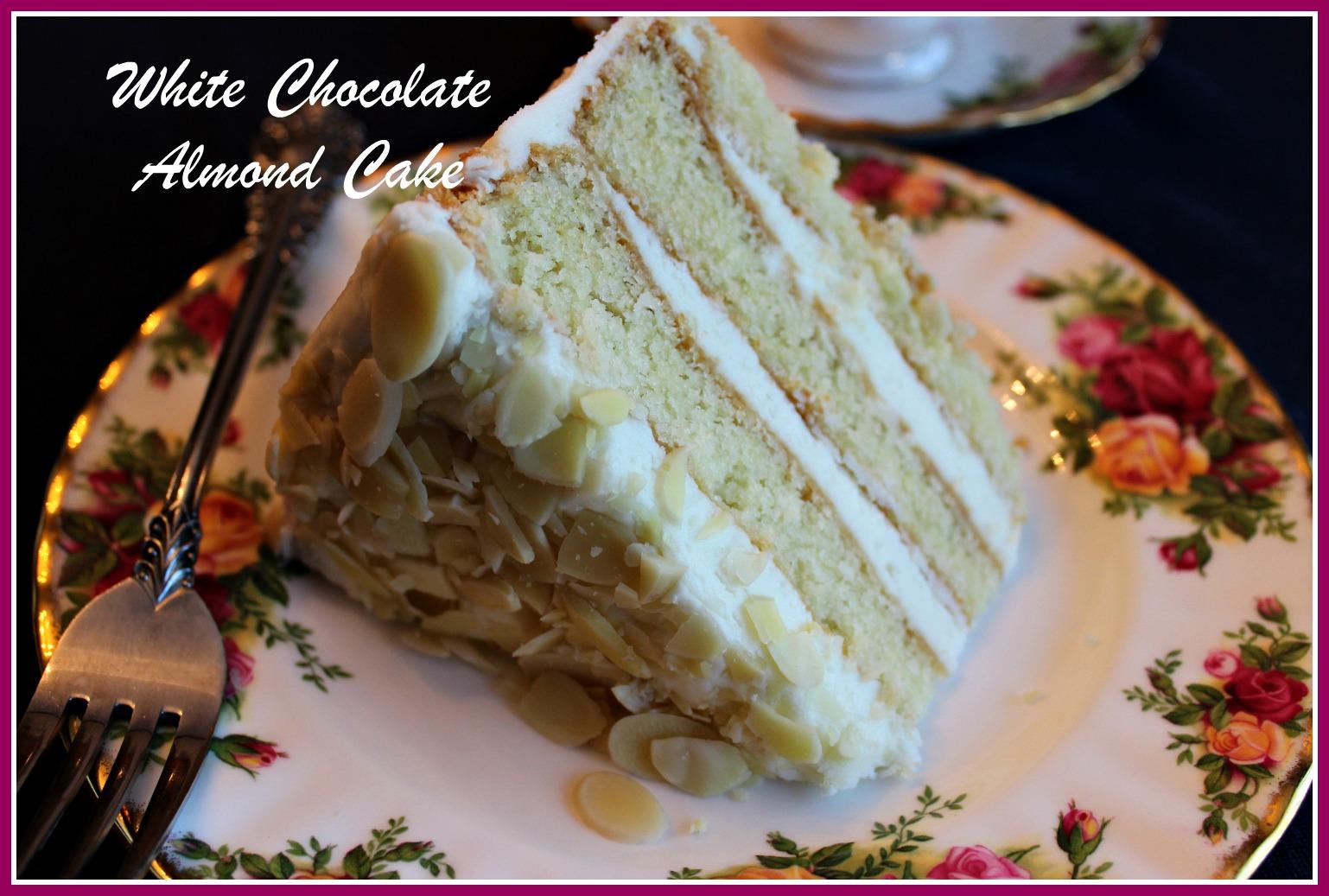 Sweet Tea and Cornbread: White Chocolate Almond Cake!