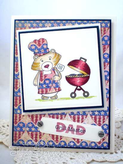 DAD Card by Tricia Traxler using Winston's BBQ stamp set  | Newton's Nook Designs