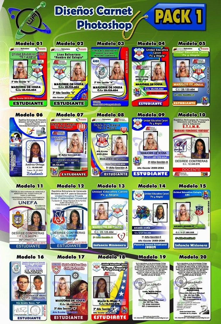 Descargar Diseños de Carnet PVC - Plantillas en Photoshop 100 ...