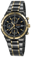 Seiko Men's SNAA30 Alarm Chronograph Black