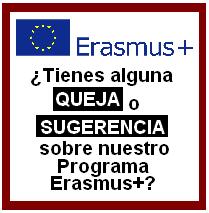Erasmus+: Quejas o sugerencias