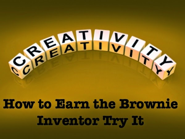 Meeting plans and resources on how to earn the Brownie Inventor badge