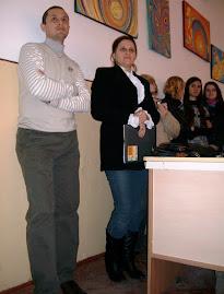 Prof. Daniel Nedeloiu şi Prof. Violeta Teioşanu, 30.XI.2011...