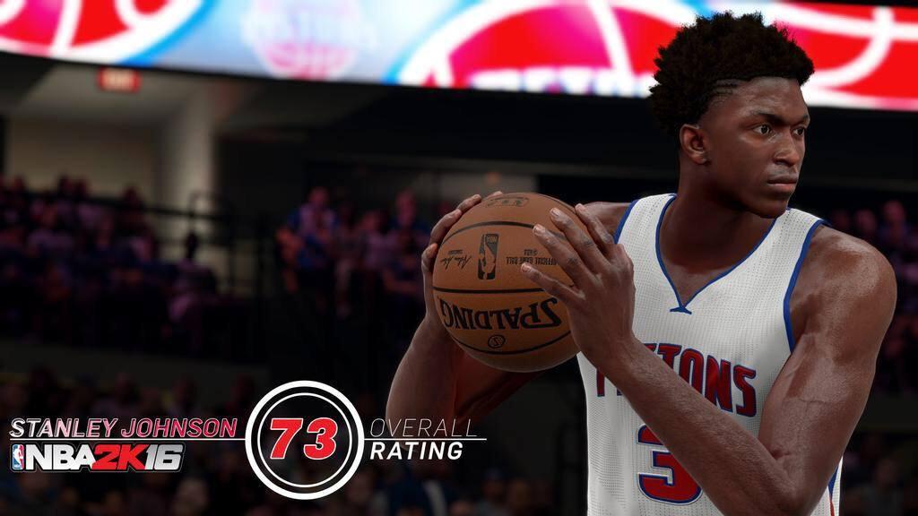 NBA 2k16 Stanley Johnson Rating
