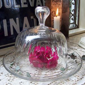 Gammel fransk glasklokke