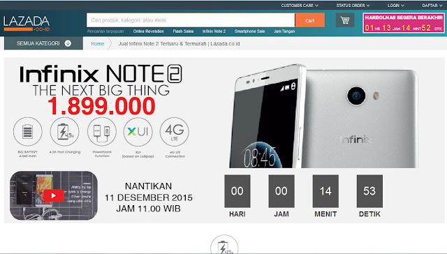 Infinix Note 2 Cocok Buat yang Aktif