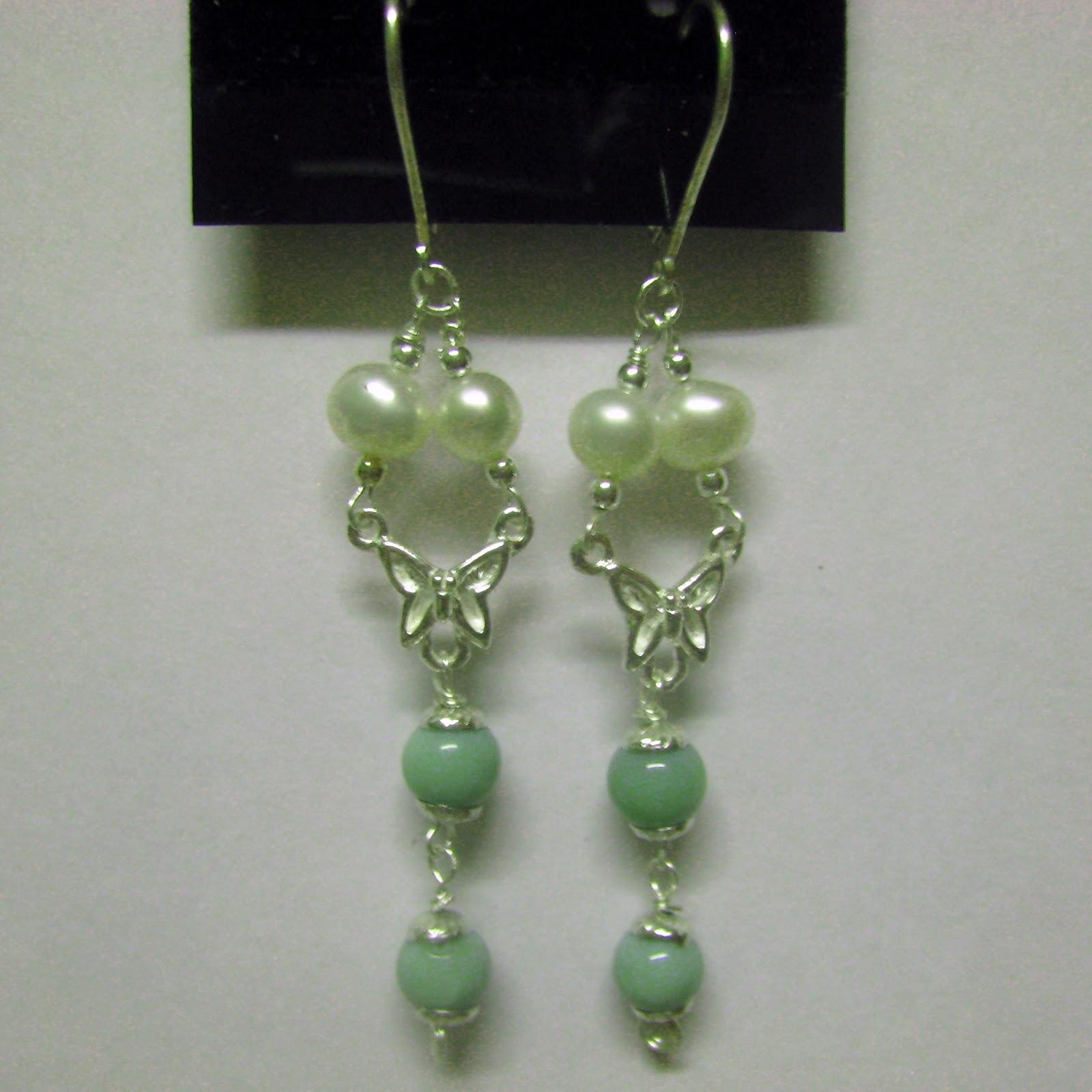 Pendientes de ópalo y perlas en plata de ley. Gil ® brujaness, brujaness's workshop