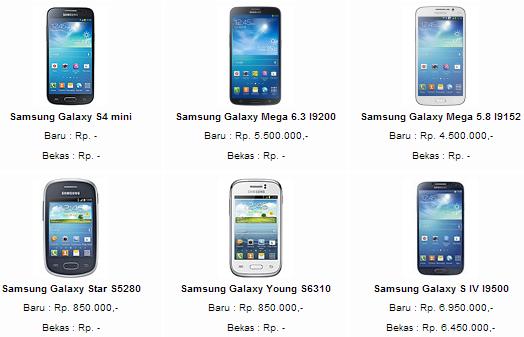 Harga Samsung Galaxy Young Duos S6102  Spesifikasi