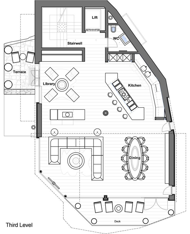 Third level mountain home floor plan