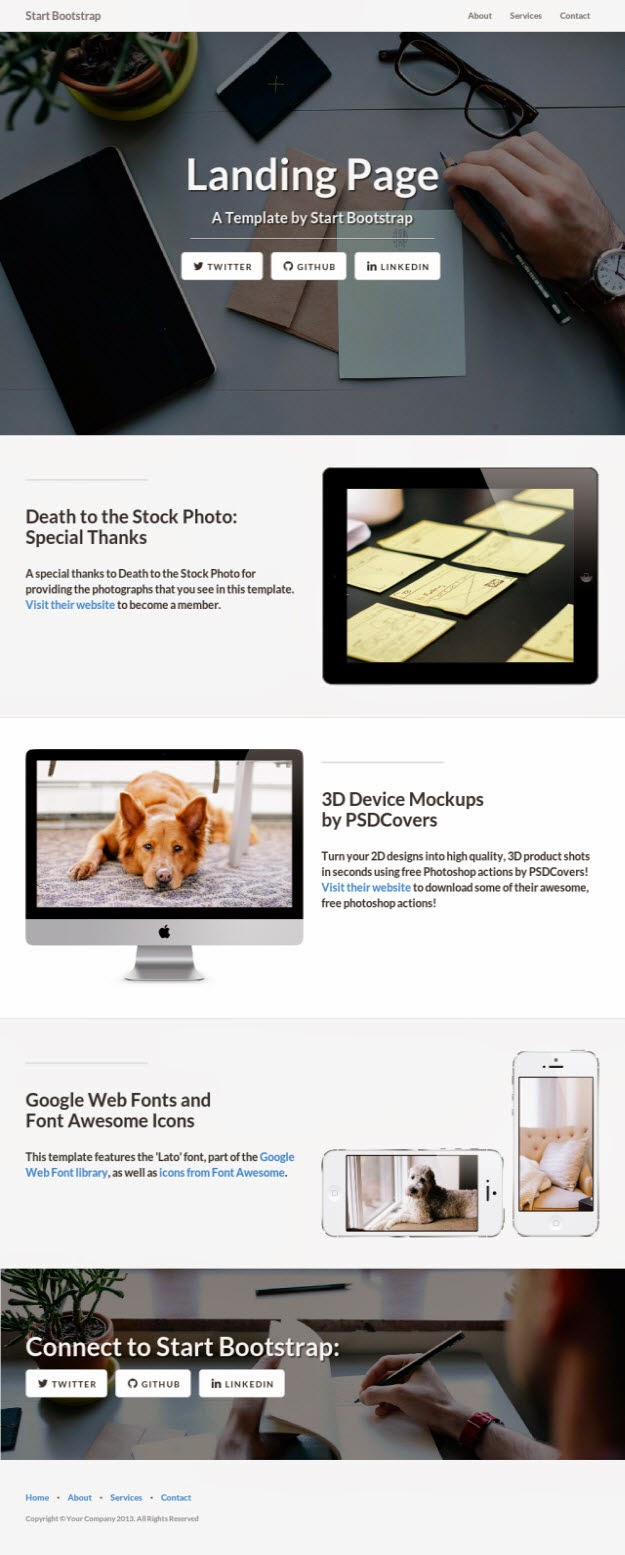 50 Free Bootstrap HTML5 Templates