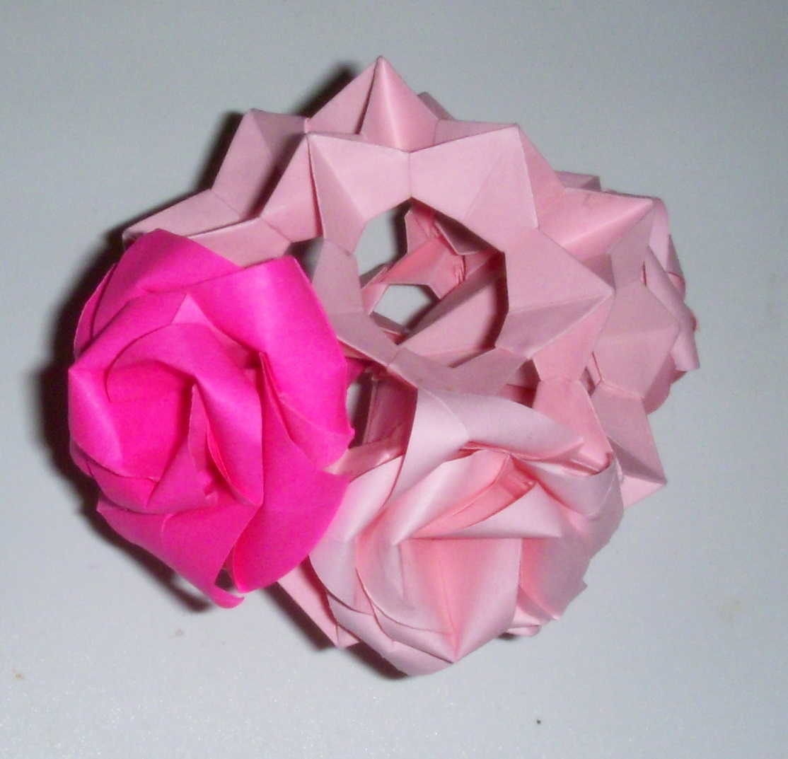 Origami: Origami Rose Kusudama - photo#21