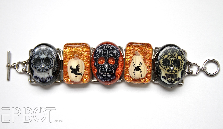 EPBOT: Glam Halloween Jewelry Made From Scrapbook Stickers!