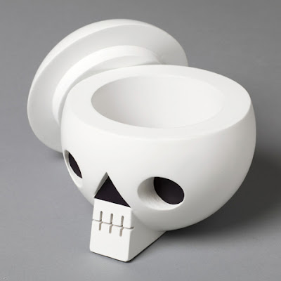 skull-shaped storage container