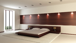 new latest wight colour bedroom designs with lights