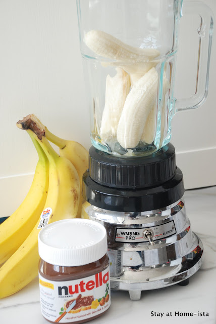 Ingredients for banana nutella ice cream pops
