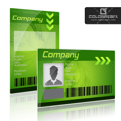 Business ID Card PSD Template