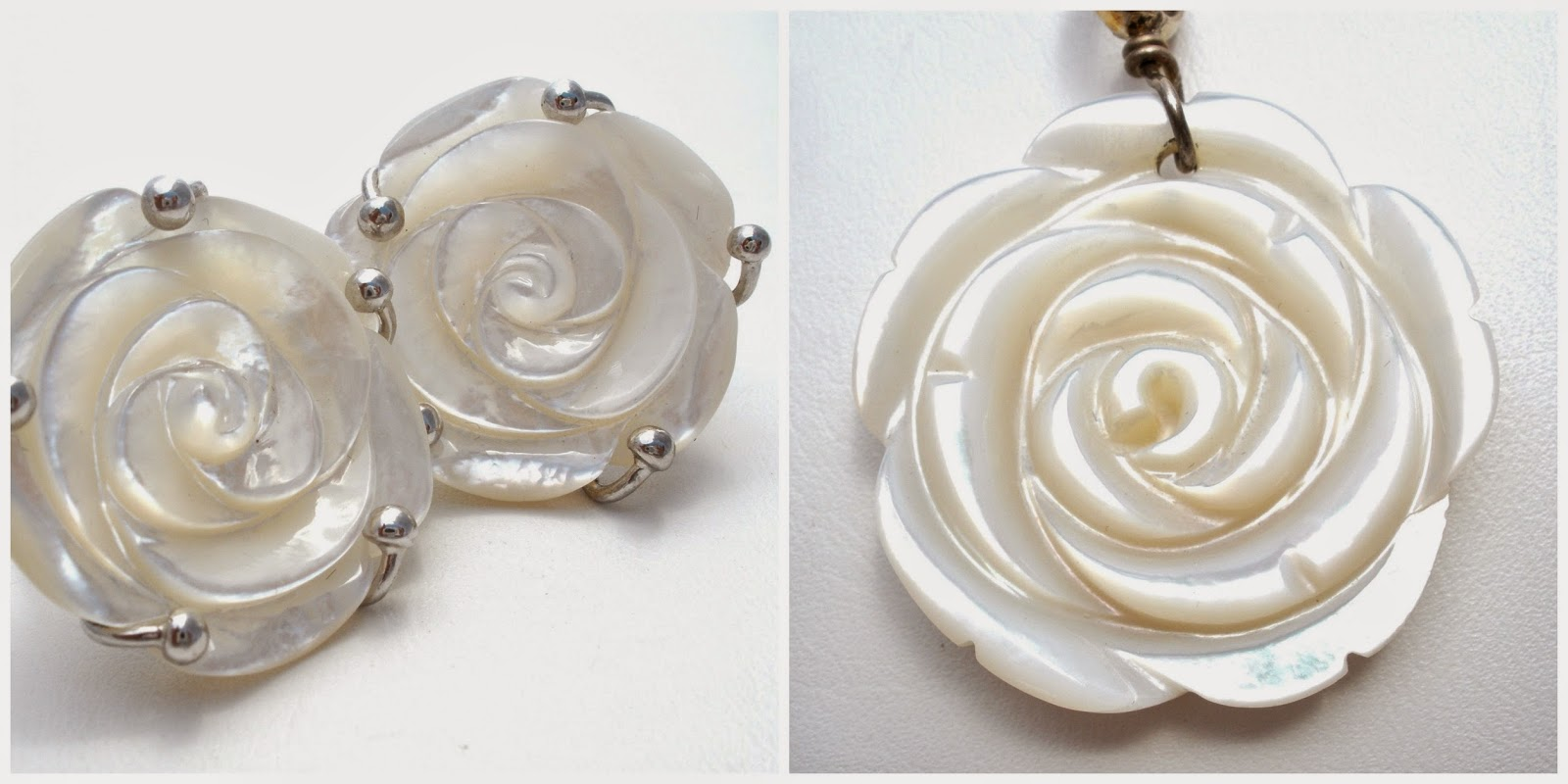 The Jewelry Lady S Sterling Silver Mother Of Pearl Rose