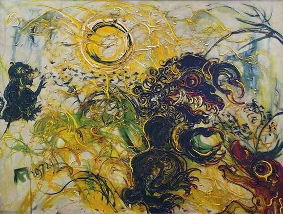 Karya Lukisan Affandi Balinese Scare Crows