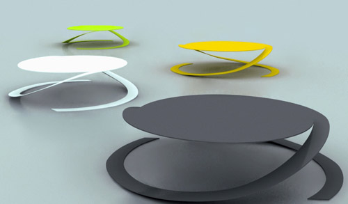 Round Coffee Table by Yoann Henry Yvon multi colors