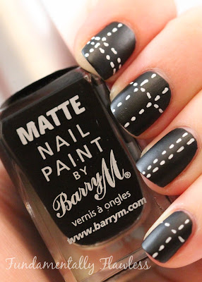 Barry M Matte Black nail polish