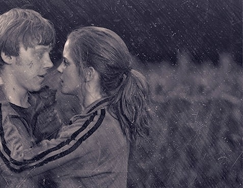 ron and hermione relationship in deathly hallows