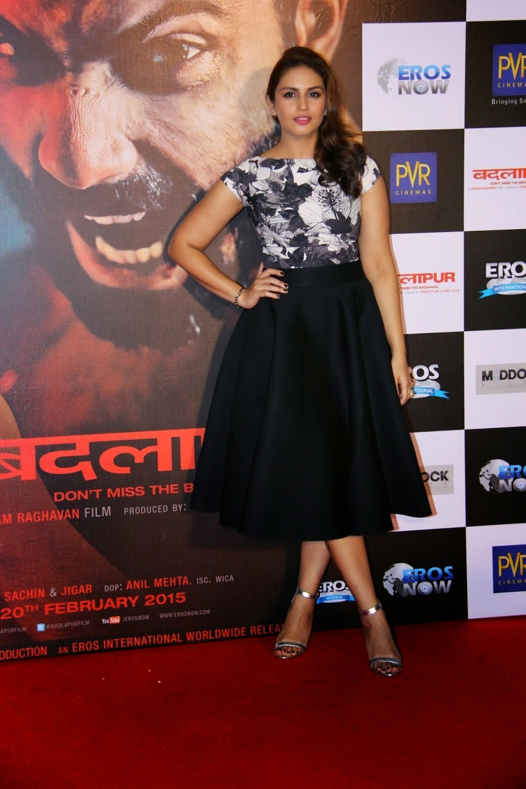 Huma Qureshi Latest Stills In Black Dress