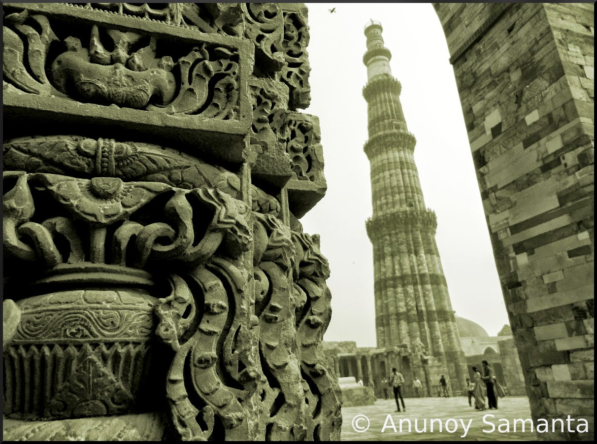 Qutub Minar still stands tall amidst all Ruins