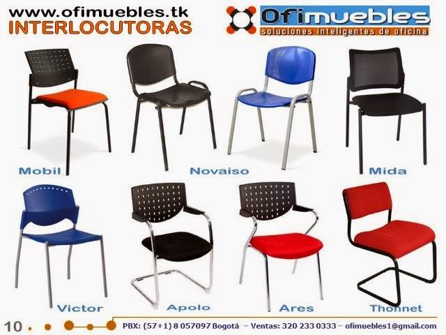 Butacos sillas conferencia y mesas para colectividades for Sillas para oficina bogota