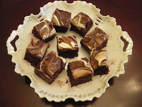 Mystery Lovers' Kitchen: Kahlua Brownies With White and ...