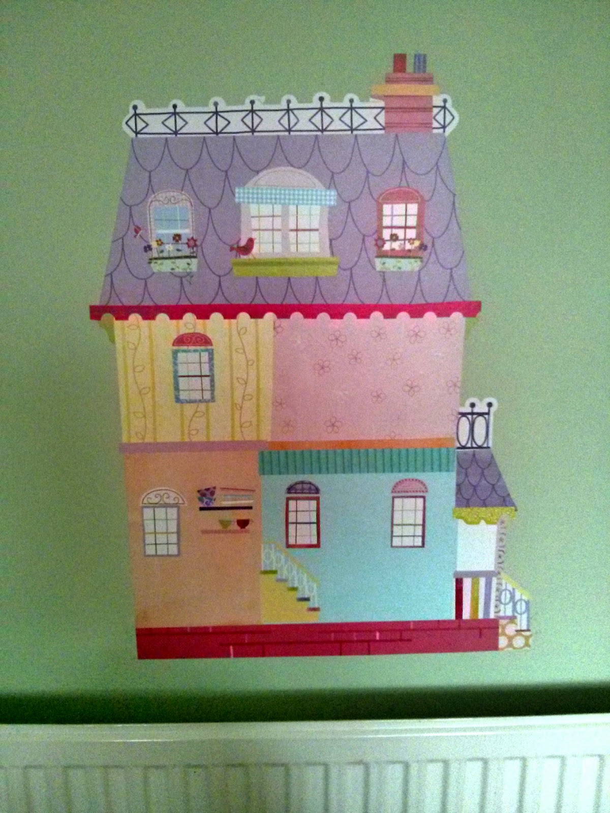 doll house sticker