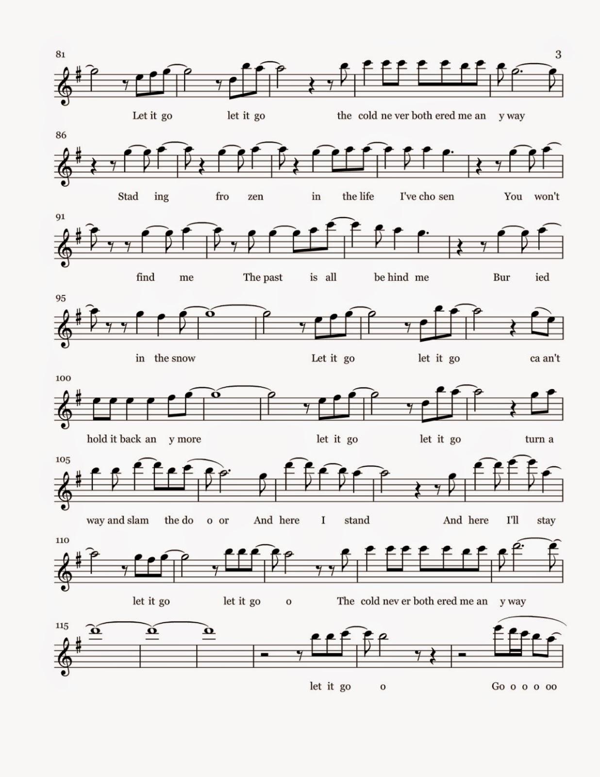 Flute sheet music let it go sheet music pdf download hexwebz Images
