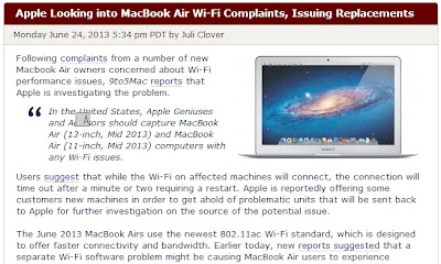 Mac Rumors WiFI不具合