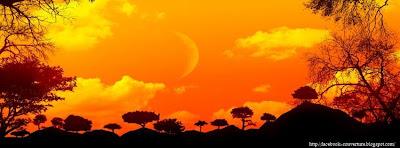 Couverture facebook hd coucher de soleil