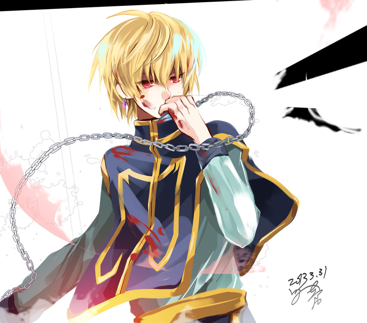 Kurapika Scarlet Eye Hunter X Hunter 2011 Chain Blood Stain Blonde    Kurapika Wallpaper Backgrounds