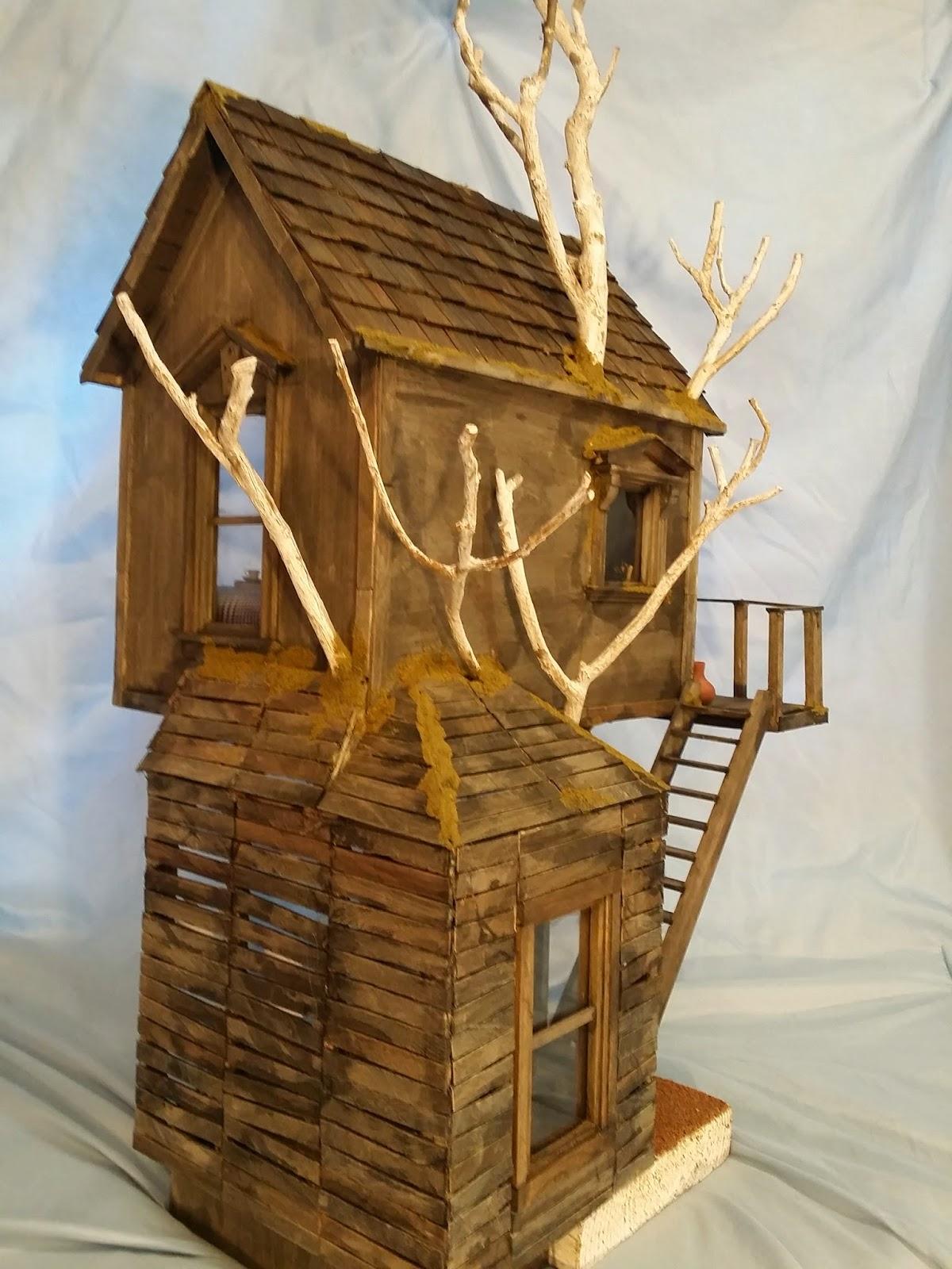how to build a miniature tree house