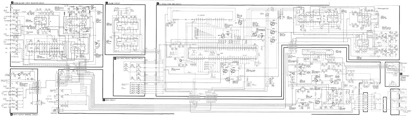 technics sux digital integrated amplifier circuit diagram circuit daigram split