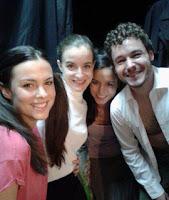 Cristina Abad, Ana Azorín, Victoria Jiménez, y Andrés Barahona