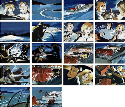 Storyboard - From Russia with Love - Boat Chase