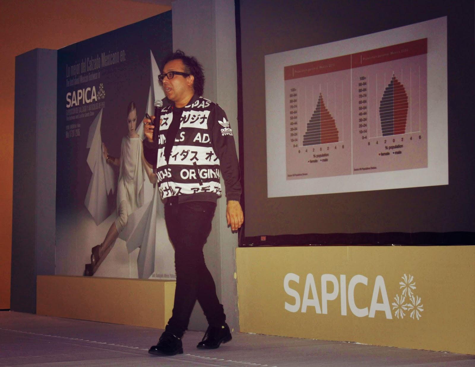 Gustavo Prado en SAPICA, trendo.mx, mextilo, conferencia mercado y moda.