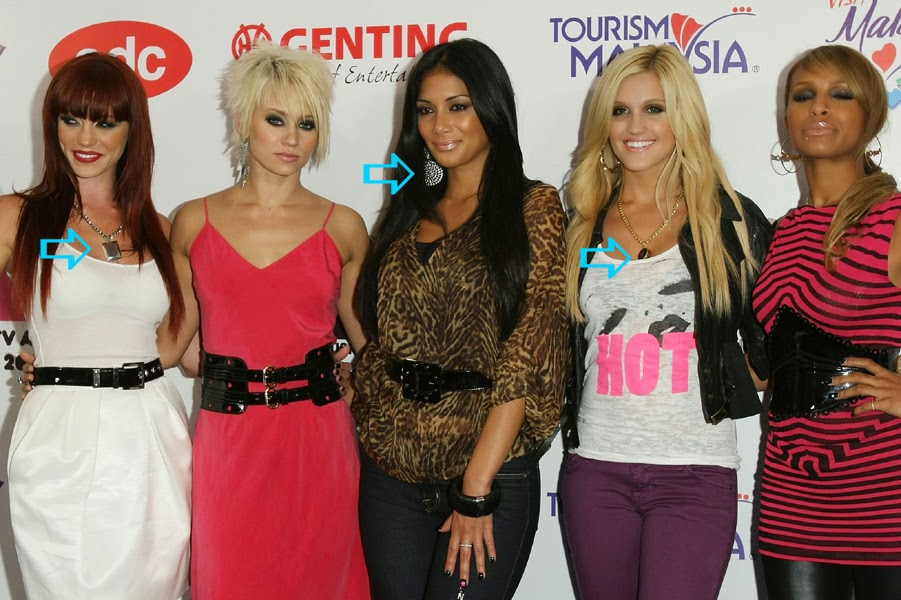 The Pussycat Dolls wearing Jenny Dayco jewelry